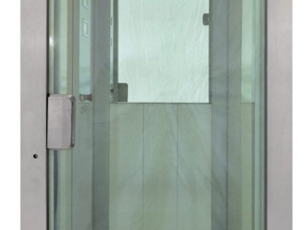 Bright-stainless-steel-Full-glass-door